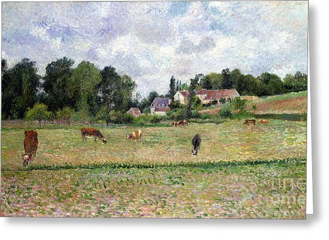 Pissarro: Cow Pasture Greeting Card by Granger