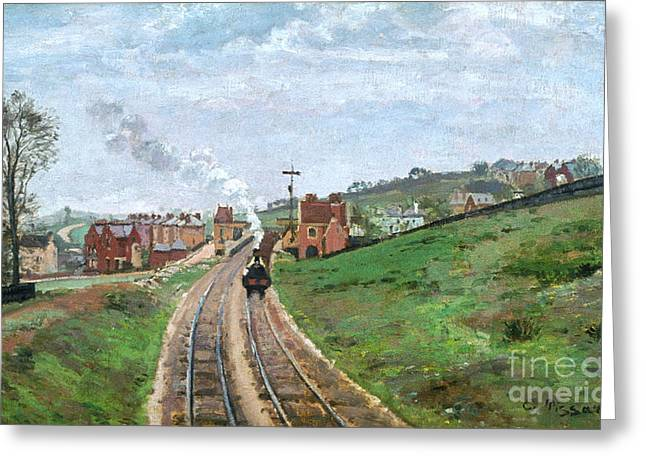 Pissarro: Station, 1871 Greeting Card by Granger