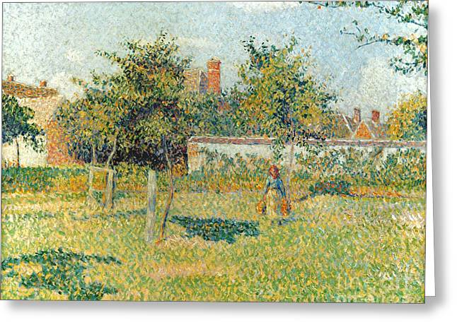 Camille Pissarro Photographs Greeting Cards - Pissarro: Woman, 1887 Greeting Card by Granger