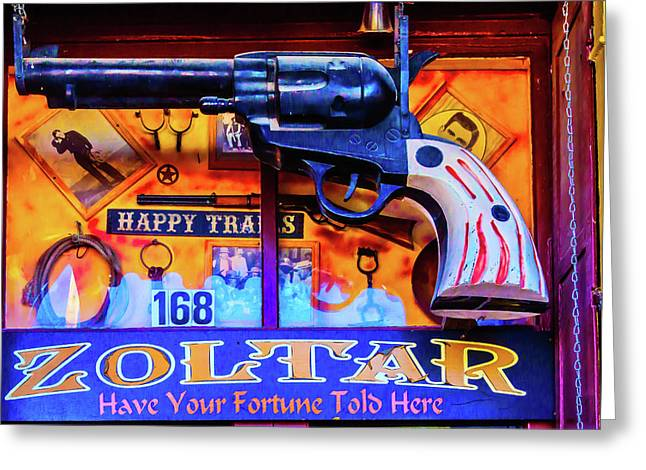 Pistol Gun Sign Greeting Card by Garry Gay