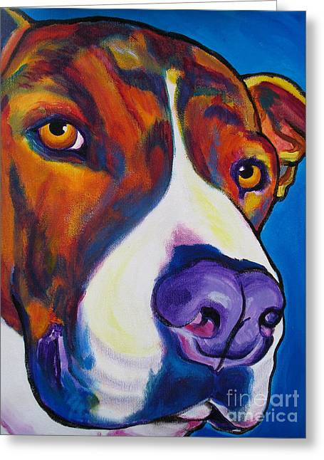 Pit Bull - Eric Greeting Card by Alicia VanNoy Call