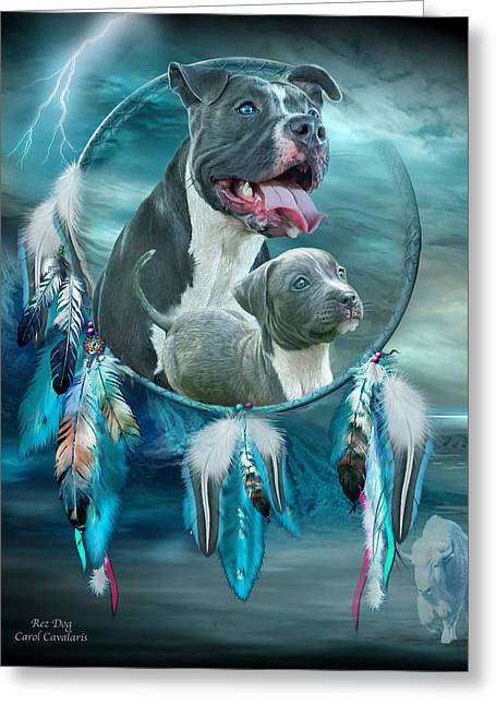 Pit Bulls - Rez Dog Greeting Card