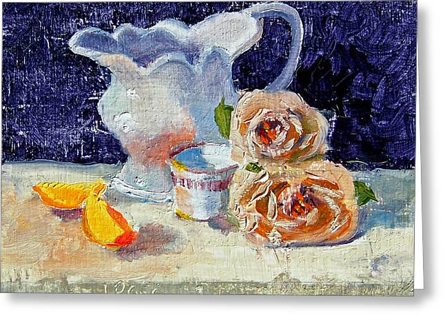 Pitcher Picture Greeting Card by Laurie Paci