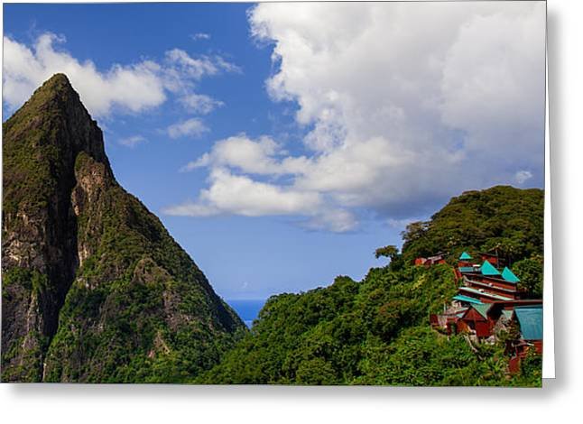 Piton And Ladera Greeting Card by Karen Wiles