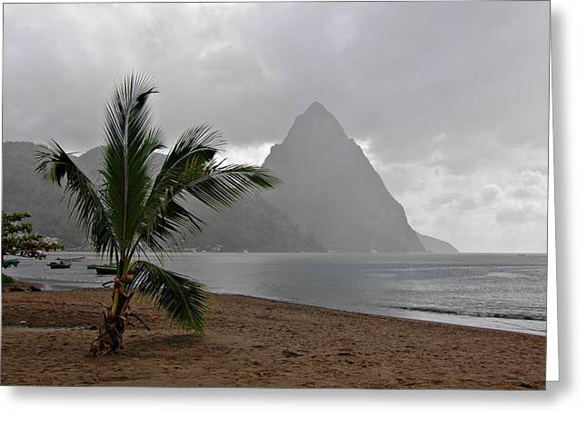 Pitons - St. Lucia Greeting Card by J R Baldini
