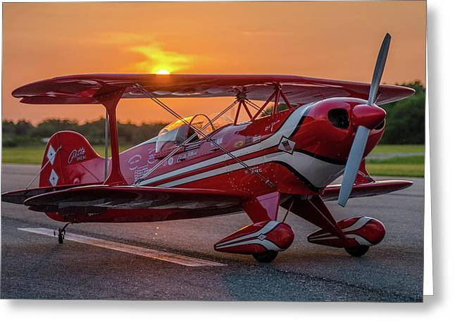 Pitts Sunset Greeting Card