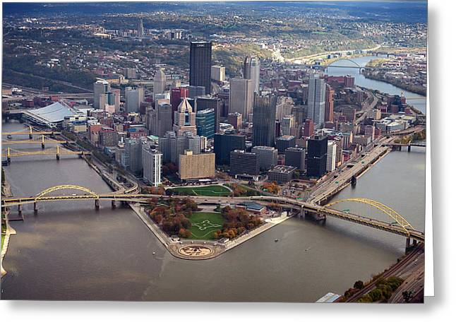 Allegheny Greeting Cards - Pittsburgh 8 in color  Greeting Card by Emmanuel Panagiotakis