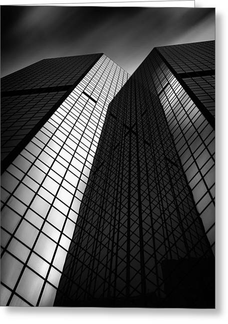 Pittsburgh Architecture75bw Greeting Card by Emmanuel Panagiotakis