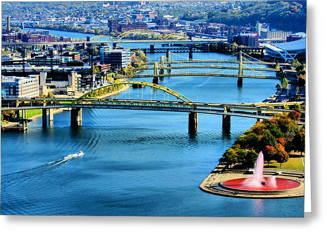Pittsburgh At The Point Greeting Card