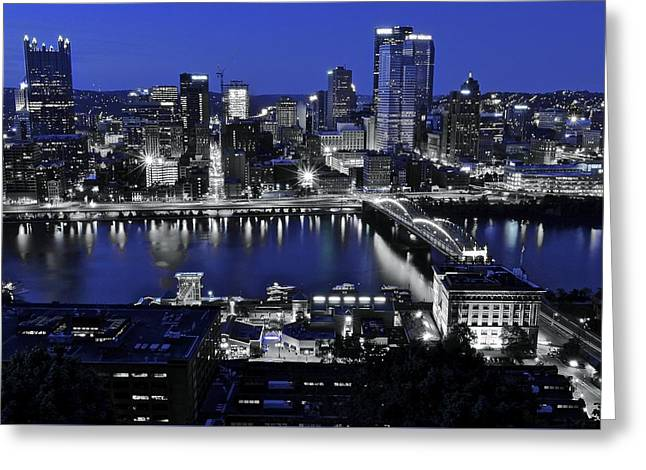 Pittsburgh Blue Greeting Card