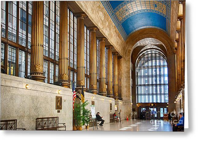 Pittsburgh City County Building Main Hall Greeting Card by Amy Cicconi