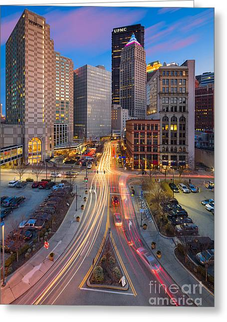 Pittsburgh Cultural District Greeting Card by Emmanuel Panagiotakis