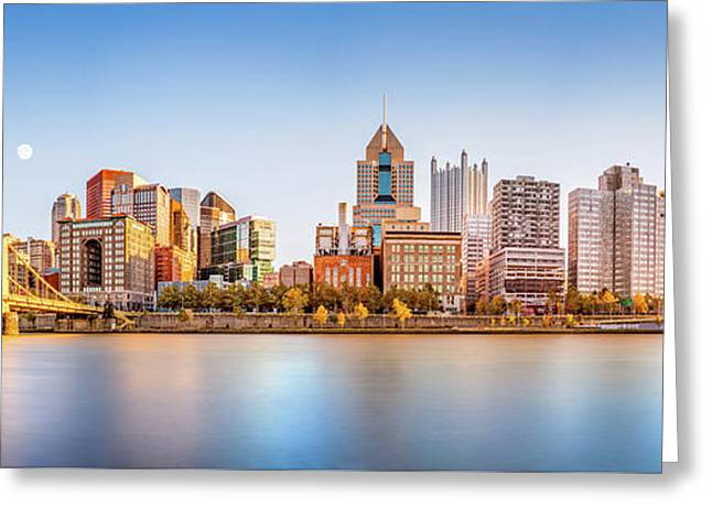 Pittsburgh Downtown Skyline Greeting Card