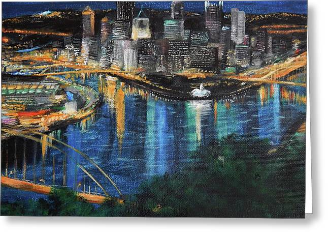 Pittsburgh Evening Greeting Card