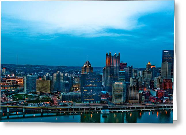 Pittsburgh In Hdr Greeting Card by Kayla Kyle