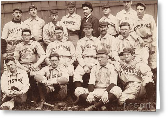 Pittsburgh National League Baseball Team Greeting Card by American School