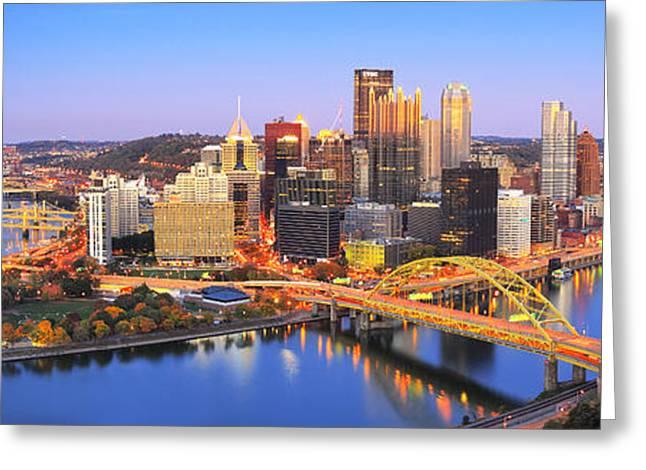 Pittsburgh Pano 22 Greeting Card