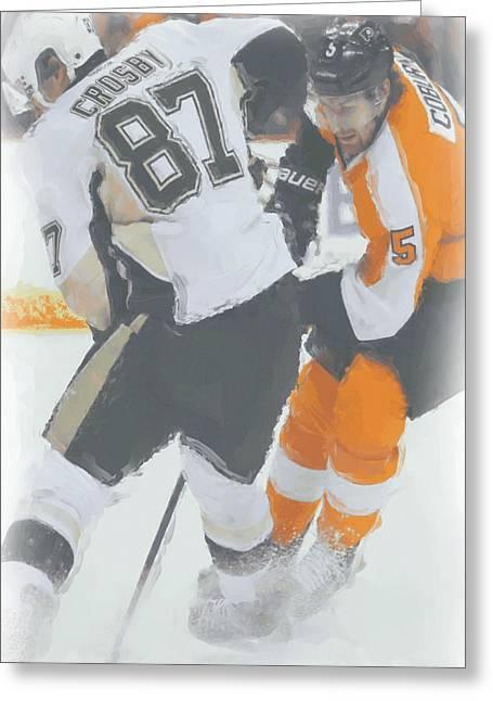 Pittsburgh Penguins Sidney Crosby 2 Greeting Card by Joe Hamilton