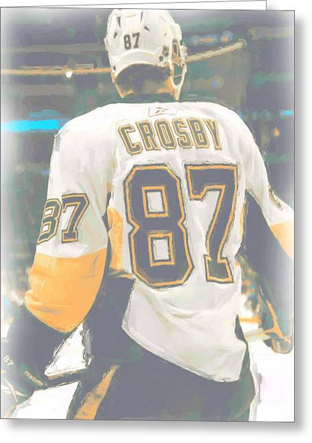 Pittsburgh Penguins Sidney Crosby Greeting Card by Joe Hamilton
