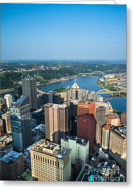 Pittsburgh Pennsylvania Aerial View Greeting Card
