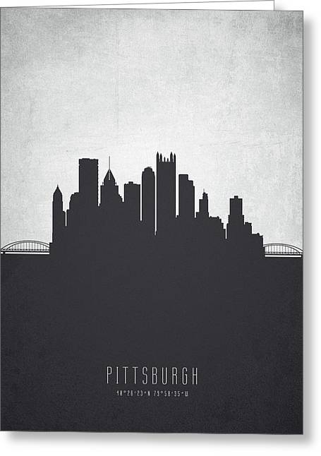 Pittsburgh Pennsylvania Cityscape 19 Greeting Card by Aged Pixel