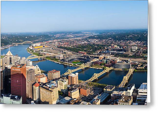 Pittsburgh Pennsylvania Cityscape Panoramic Greeting Card