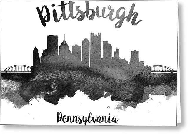 Pittsburgh Pennsylvania Skyline 18 Greeting Card by Aged Pixel