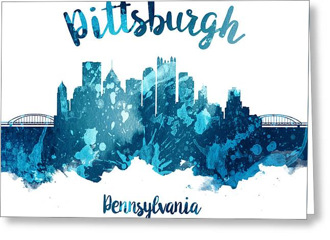Pittsburgh Pennsylvania Skyline 27 Greeting Card by Aged Pixel