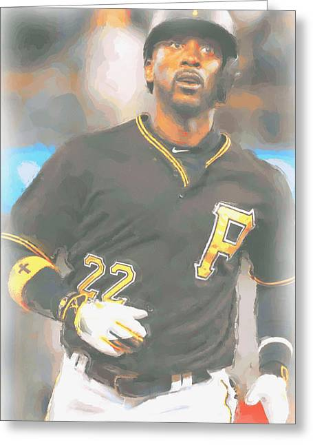 Pittsburgh Pirates Andrew Mccutchen 4 Greeting Card by Joe Hamilton