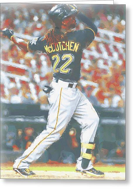 Pittsburgh Pirates Andrew Mccutchen 5 Greeting Card by Joe Hamilton