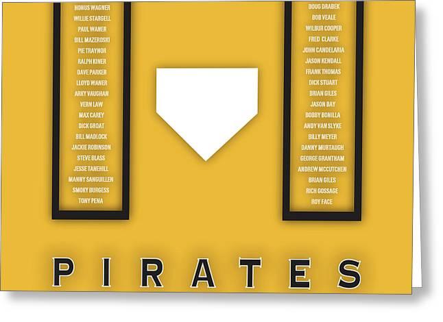 Pittsburgh Pirates Art - Mlb Baseball Wall Print Greeting Card by Damon Gray