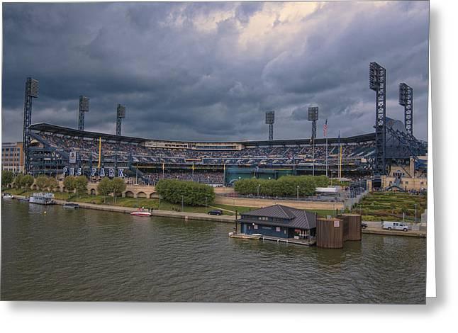 Pittsburgh Pirates Pnc Park B Greeting Card by David Haskett