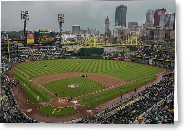Pittsburgh Pirates Pnc Park X5 Greeting Card by David Haskett