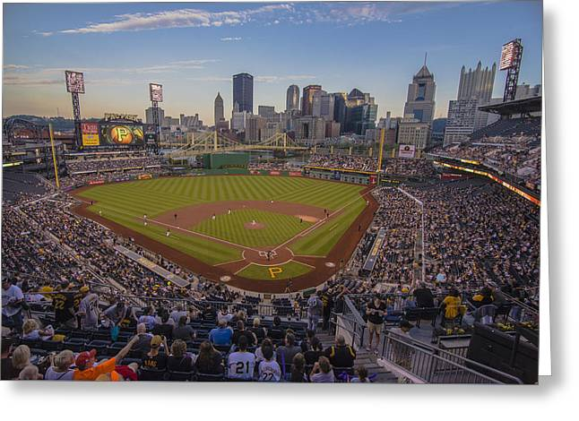 Pittsburgh Pirates Pnc Park X6 Greeting Card by David Haskett