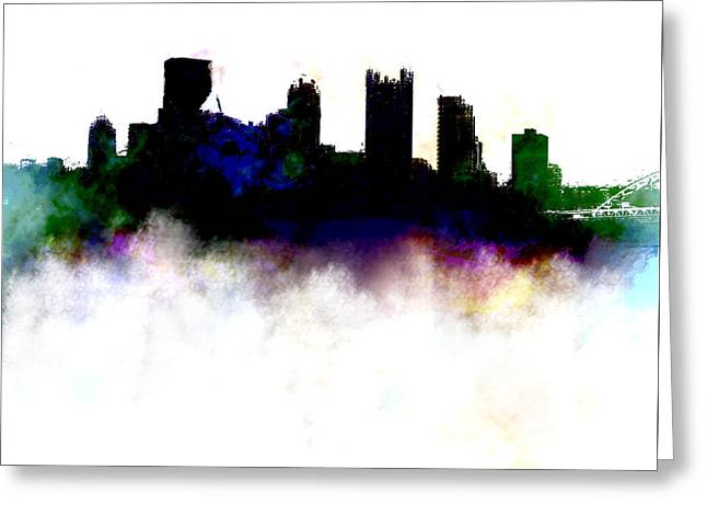 Pittsburgh Skyline Colors Greeting Card