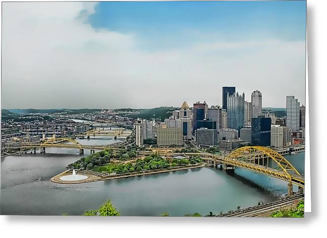 Pittsburgh Skyline Greeting Card by Dyle   Warren