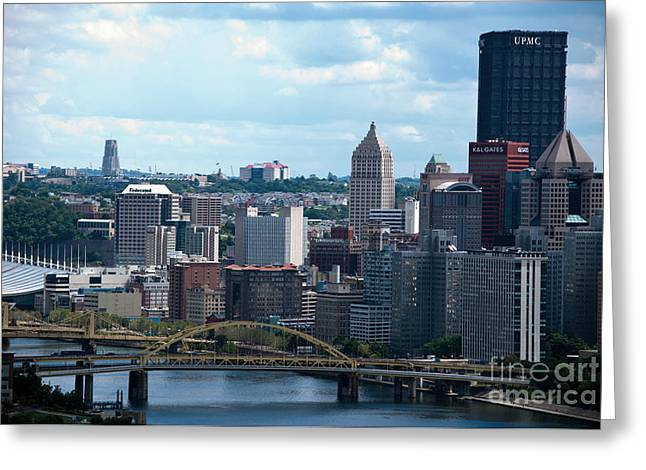 Pittsburgh Skyline Greeting Card by Pittsburgh Photo Company