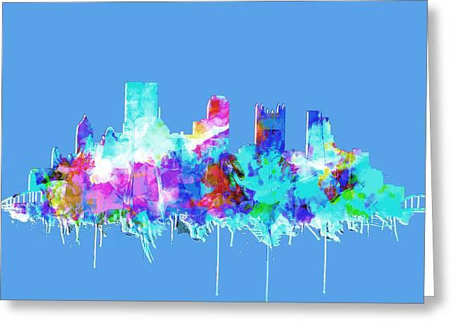 Pittsburgh Skyline Waterolor 2 Greeting Card