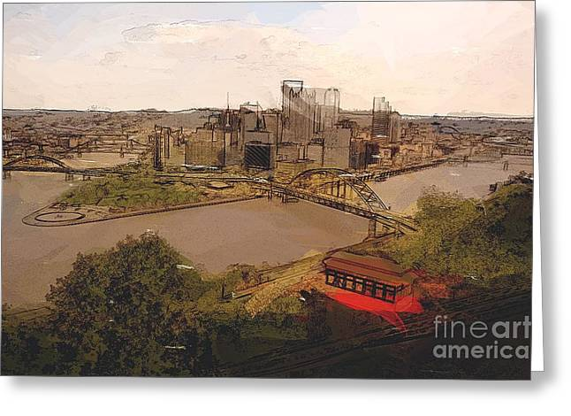 Pittsburgh Greeting Card by Spencer McKain