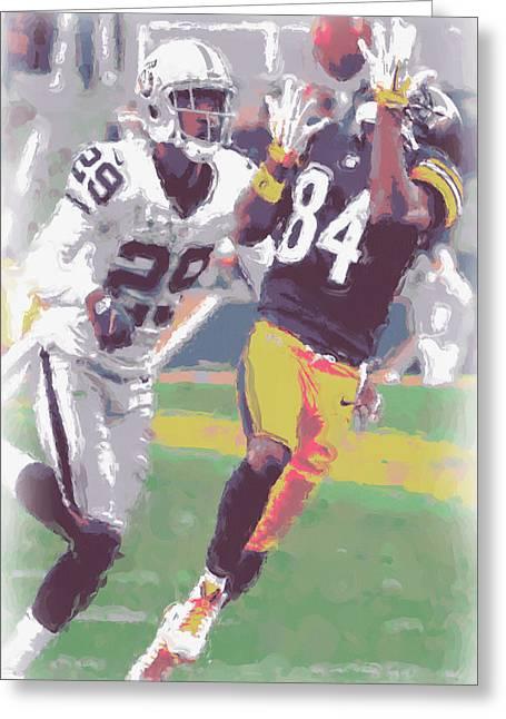 Pittsburgh Steelers Antonio Brown 1 Greeting Card by Joe Hamilton