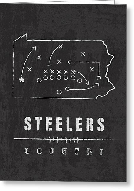 Pittsburgh Steelers Art - Nfl Football Wall Print Greeting Card by Damon Gray