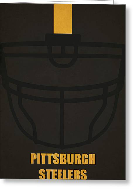 Pittsburgh Steelers Helmet Art Greeting Card