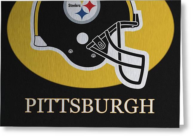 Pittsburgh Steelers Metal Sign Greeting Card