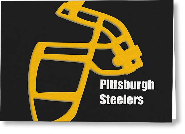 Pittsburgh Steelers Retro Greeting Card by Joe Hamilton