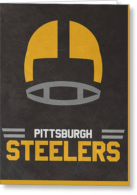 Pittsburgh Steelers Vintage Art Greeting Card