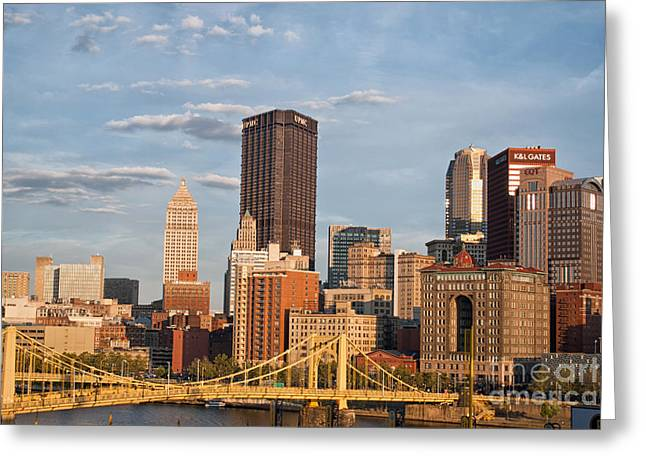 Pittsburgh Sunset Greeting Card by Pittsburgh Photo Company