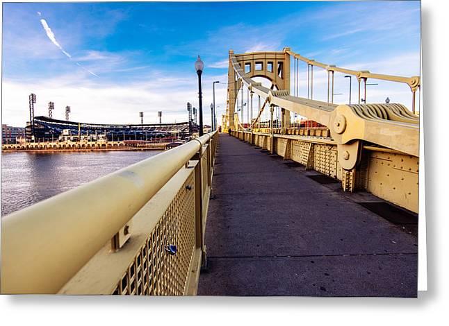 Pittsburgh Wide Bridge  Greeting Card by Paul Scolieri