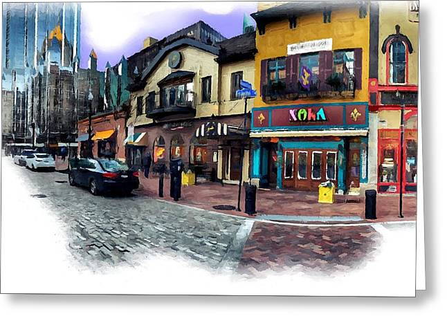 Pittsburgh's Market Square Greeting Card by Mattucci Photography