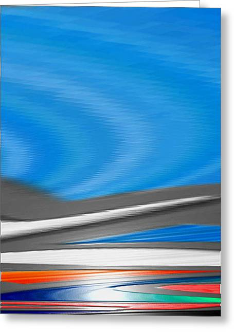 Greeting Card featuring the digital art Pittura Digital by Sheila Mcdonald