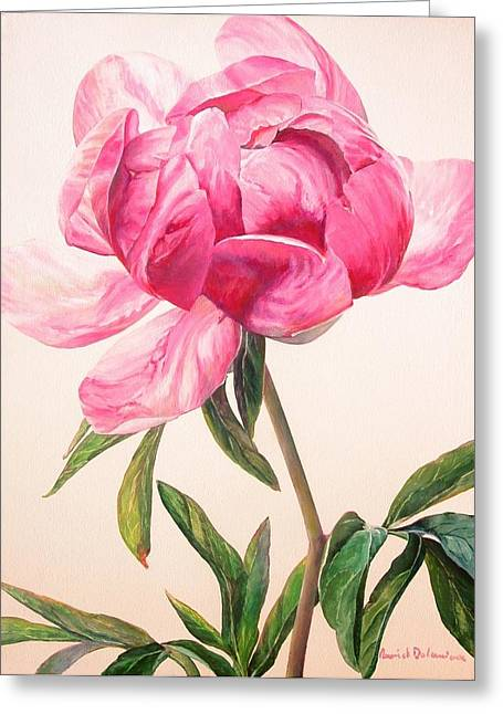 Pivoine 1 Greeting Card by Muriel Dolemieux